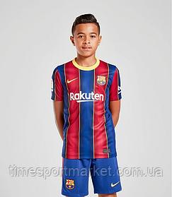 Дитяча Футбольна форма Барселона домашня 2020-2021 (Оригінальна Репліка)