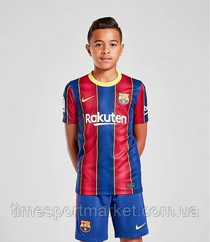Детская Футбольная форма Барселона домашняя 2020-2021 (Оригинальная Реплика), фото 2