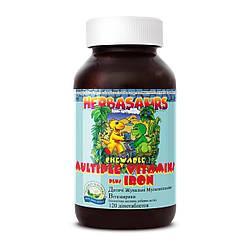 """Детские жевательные мультивитамины """"Витазаврики"""" Children's Chewable Multiple Vitamins plus Iron, NSP, США"""
