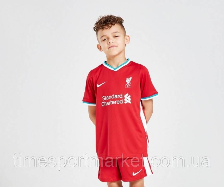 Детская Футбольная форма Ливерпуль домашняя сезон 2020-2021 (Оригинальная Реплика)