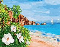 Картина рисование по номерам BrushMe Побережье GX27767 40х50см набор для росписи, краски, кисти, холст