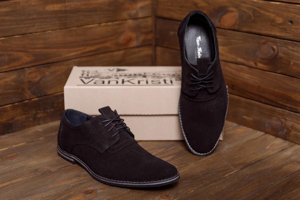 Туфли мужские классические из натуральной замши VanKristi