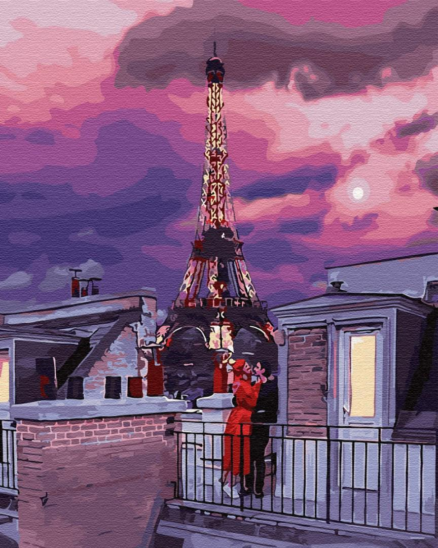 Картина рисование по номерам Brushme Французский закат GX30104 40х50см набор для росписи, краски, кисти, холст