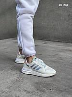 Кроссовки Adidas Originals ZX500 RM (бело/розовые) ОРИГИНАЛ