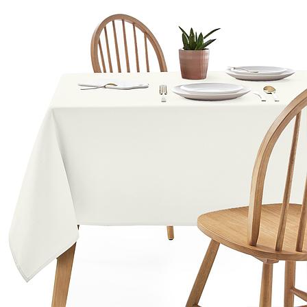 Скатертина 240х150см Айворі Арт.963 Туреччина в Ресторан на стіл 180х90см спуск 30см, фото 2