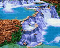 Картина рисование по номерам Brushme Сказочный водопад GX29460 40х50см набор для росписи, краски, кисти, холст