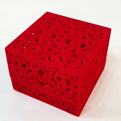 Оксамитова коробочка для кільця -