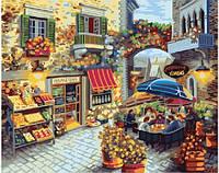 Картина рисование по номерам Brushme Уютный дворик GX8519 40х50см набор для росписи, краски, кисти, холст