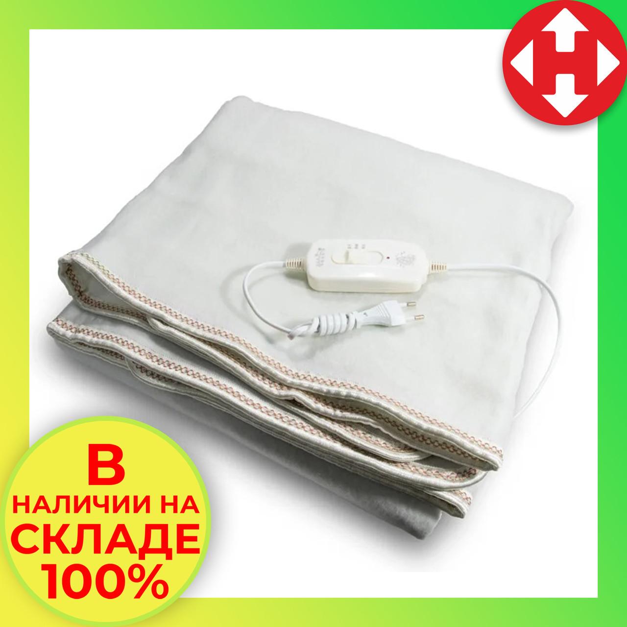 Электроодеяло Electric Blanket (100 W, 150х155 см) Коричноевое, простынь с подогревом электро одеяло