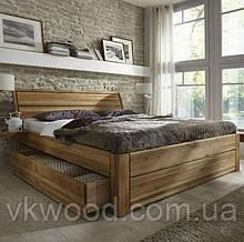 """Ліжко, кровать з массиву дерева дуб, ясень """"Шалле"""""""