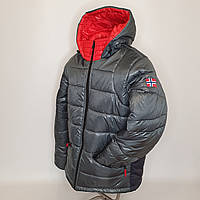 ОПТОМ Зимняя мужская куртка, Тони, размеры 46-54 Серый