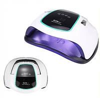 Профессиональная настольная лампа для маникюра для сушки ногтей, гель-лака UV+LED SUN BQ-6T 108 Вт White