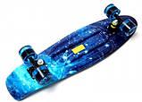 Скейт Penny Board, с широкими светящимися колесами Пенни борд, детский , от 4 лет, расцветка Космос, фото 6