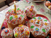 Пасхальная продукция - бумажные формы, цукаты, пудра