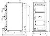 Универсальный котел на дровах Kraft E 20 кВт с ручным управлением и водонаполненными колосниками, фото 9
