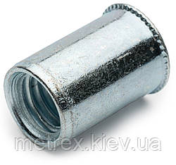 Заклепка резьбовая М10 0.5-3.0 мм открытая с уменьшенной плоской головкой Rivettop