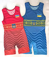 Трико борцовское сборная Украины UWW детское подростковое взрослое