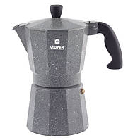 Кофеварка гейзерная Moka Granito VINZER 3 чашечки алюминиевая (89397), фото 1