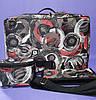 Парикмахерская сумка 40*27*25см в комплекте чехол для ножниц, косметичка Красные круги