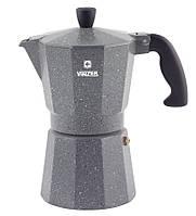 Кофеварка гейзерная Moka Granito VINZER 6 чашечек алюминиевая (89398), фото 1