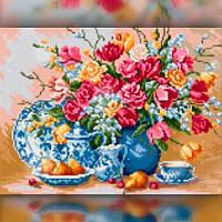 Алмазная вышивка мозаика The Wortex Diamonds Ваза на столе 30x40 TWD10024 полная зашивка квадратные стразы., фото 1