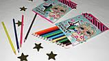 Набор цветных карандашей 18 цветов Куклы Лол 290572, фото 3