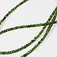 Бусы шнурок из хромдиопсида, Ø2 мм., 295ОХ, фото 2