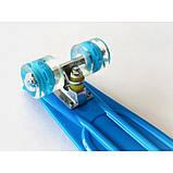 Скейт Penny Board, із широкими світлими колесами Пенні борд, дитячий , від 4 років, Колір Синій, фото 3