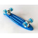 Скейт Penny Board, із широкими світлими колесами Пенні борд, дитячий , від 4 років, Колір Синій, фото 4