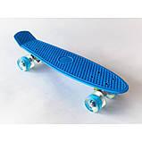 Скейт Penny Board, із широкими світлими колесами Пенні борд, дитячий , від 4 років, Колір Синій, фото 5