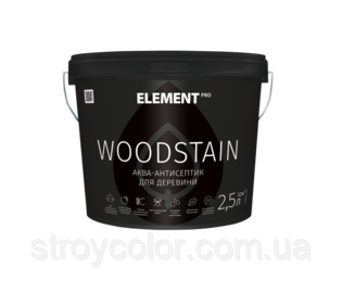 Аква-антисептик Каштан для дерева WOODSTAIN Element 2,5л (Аквалазурь элемент)