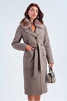 Женское зимнее пальто с натуральным мехом в 4х цветах КРИСТИ, фото 1