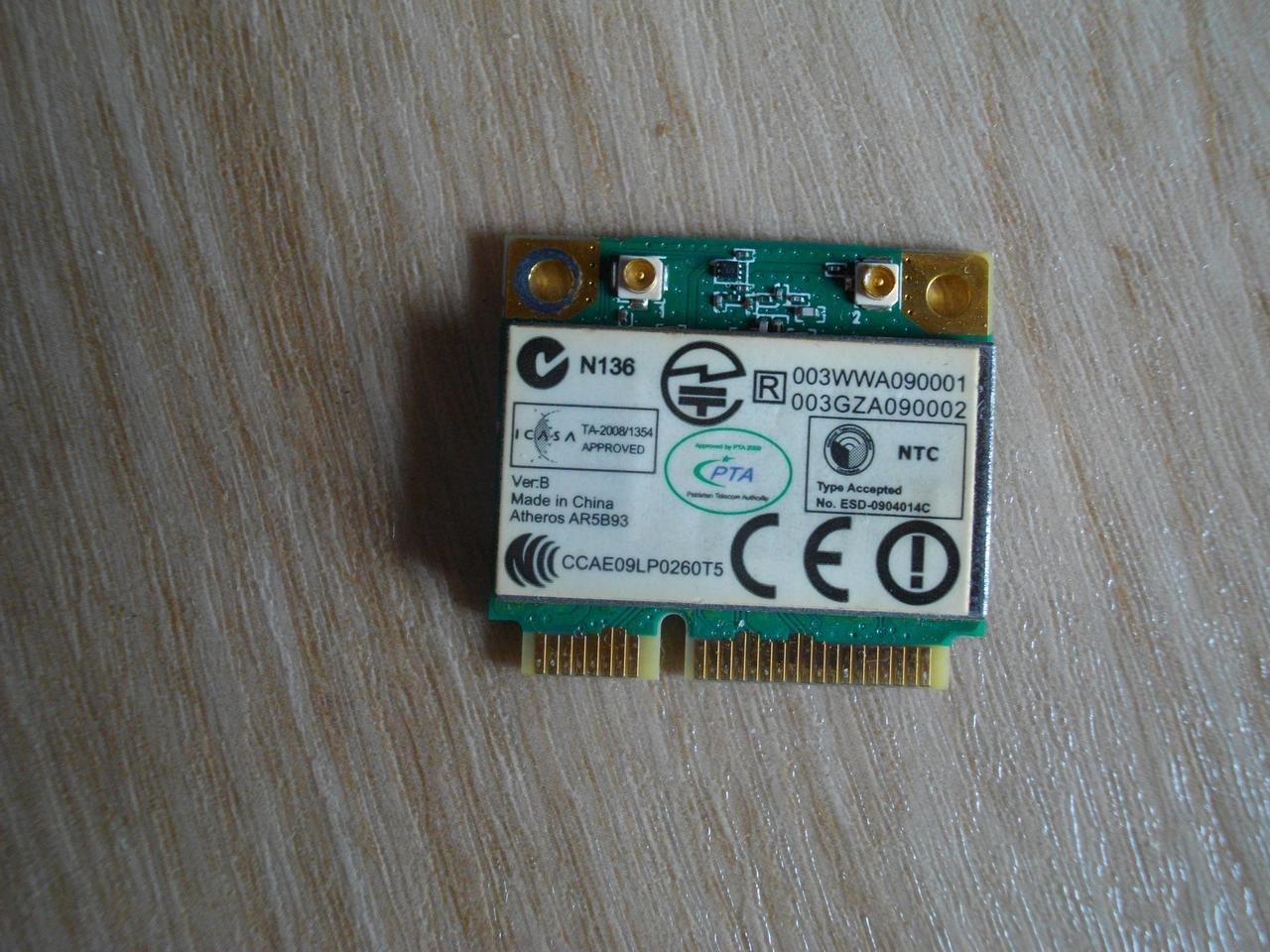 Плата модуль wi-fi AR5B93 Acer 5733 5551 5552 5741 5742 5253 5250 Emachines E442 E642 БУ