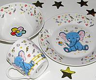 Детский подарочный набор посуды 3 предмета