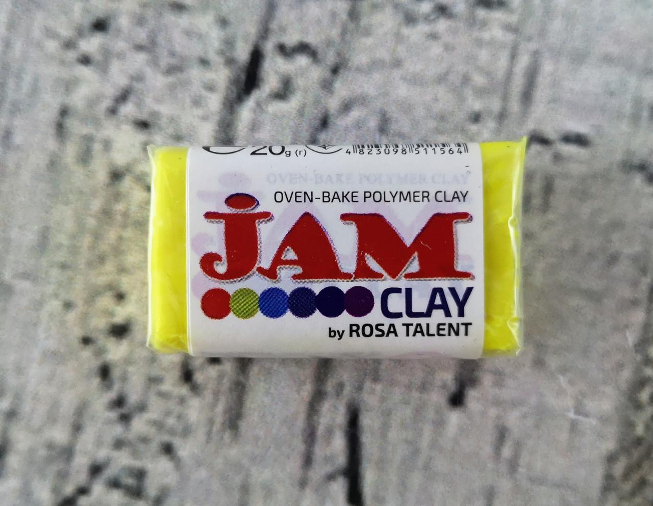 """Пластика """"Jam Clay"""" 20 г. Лимонная 300 РОСА Украина"""