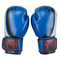 Боксерские перчатки на липучке VNM(DX, 10-12oz, синий)