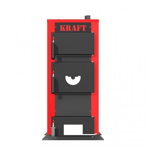 Универсальный котел на дровах Kraft E 12 кВт с ручным управлением и водонаполненными колосниками