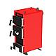 Универсальный котел на дровах Kraft E 12 кВт с ручным управлением и водонаполненными колосниками, фото 3
