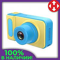 Распродажа! Детский цифровой фотоаппарат Summer Vacation Cam 3 mp фотоаппарат для ребенка, Жёлто-голубой, фото 1
