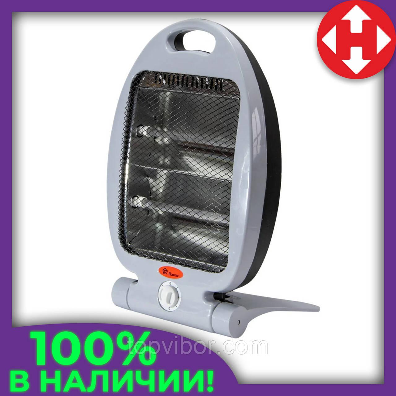 Обогреватель кварцевый инфракрасный Domotec MS-5952 800 W напольный для дома и в гараж, с доставкой