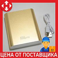 Пауэр банк, Xiaomi power bank, MiPro 2173, 10400 mAh, Gold, мощный повербанк для телефона, фото 1