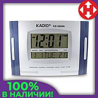 Распродажа! Электронные часы Kadio (KD-3809N), Синие, настенные цифровые часы, с большим экраном, фото 1