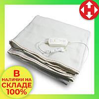 Электроодеяло Electric Blanket (100 W, 150х155 см) Коричноевое, простынь с подогревом электро одеяло, фото 1