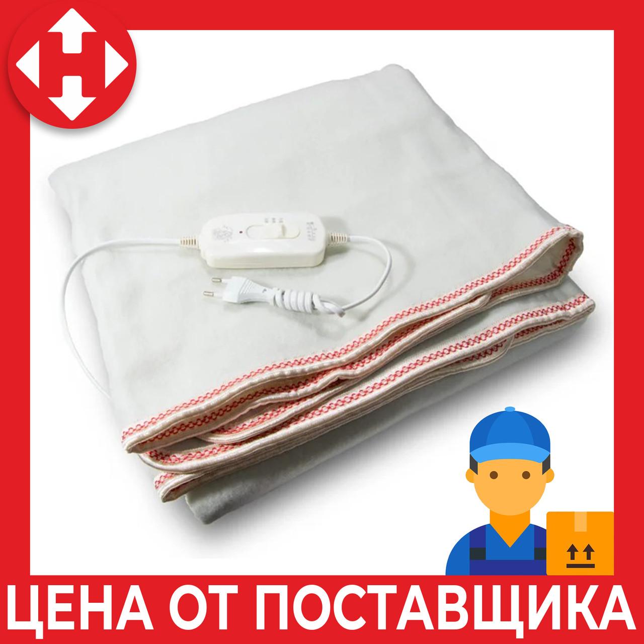 Электропростынь двуспальная с сумкой (160х115 см, 100 W), Electric Blanket, Красная, электроодеяло