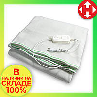 Распродажа! Электропростынь двуспальная с сумкой (160х115 см, 100 W), Electric Blanket, Зеленая, электроодеяло, фото 1