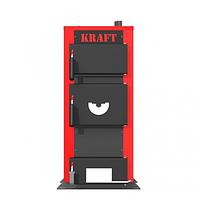 Универсальный котел на дровах Kraft E 24 кВт сталь высокого качества с водонаполненными колосниками