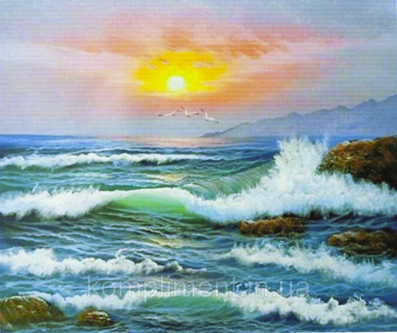 """Картина по номерам  """"Море на закате"""" 40*50 см, краски - акрил"""