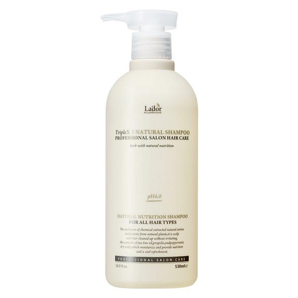 Безсульфатный шампунь с эфирными маслами La`dor TripleX3 Natural Shampoo, 530 мл