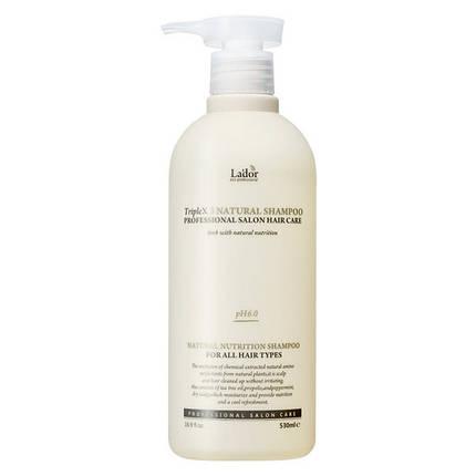 Безсульфатный шампунь с эфирными маслами La`dor TripleX3 Natural Shampoo, 530 мл, фото 2