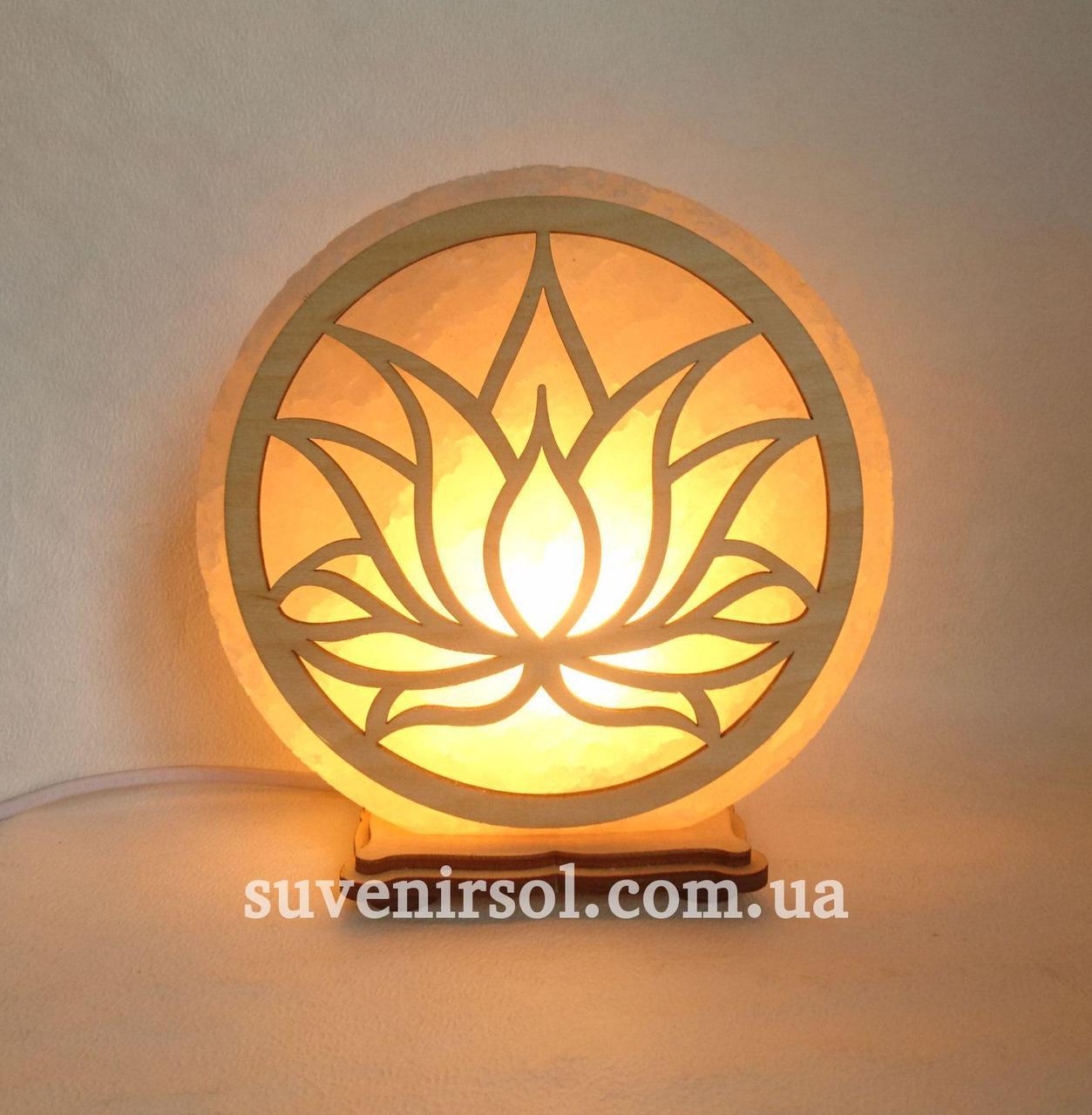 Соляной светильник круглый  Лотос